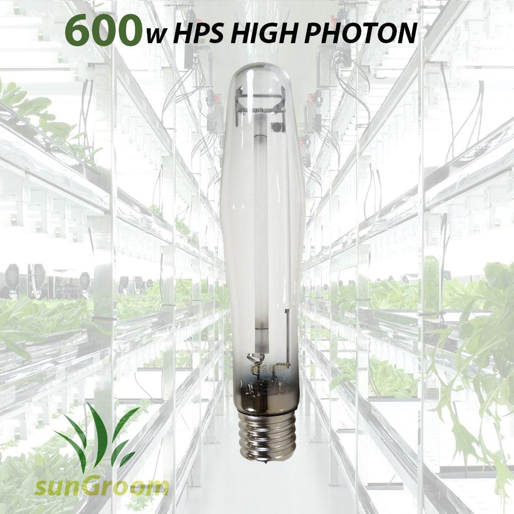 sunGROOM Horticulture 600 Watt High Pressure Sodium Hps Grow Room Light Bulb