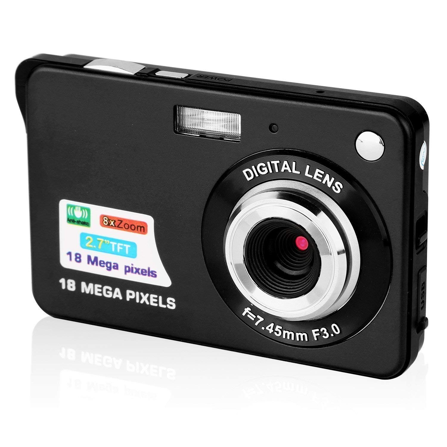 GordVE 2.7 Inch Digital Camera, HD Camera for Backpacking, Mini Digital Camera Pocket Cameras Digital with Zoom, Compact Cameras for Photography by GordVE