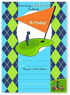 Amazon amanda creation mini golf putt putt birthday party fill golf party invitations 10 invitations 10 envelopes filmwisefo