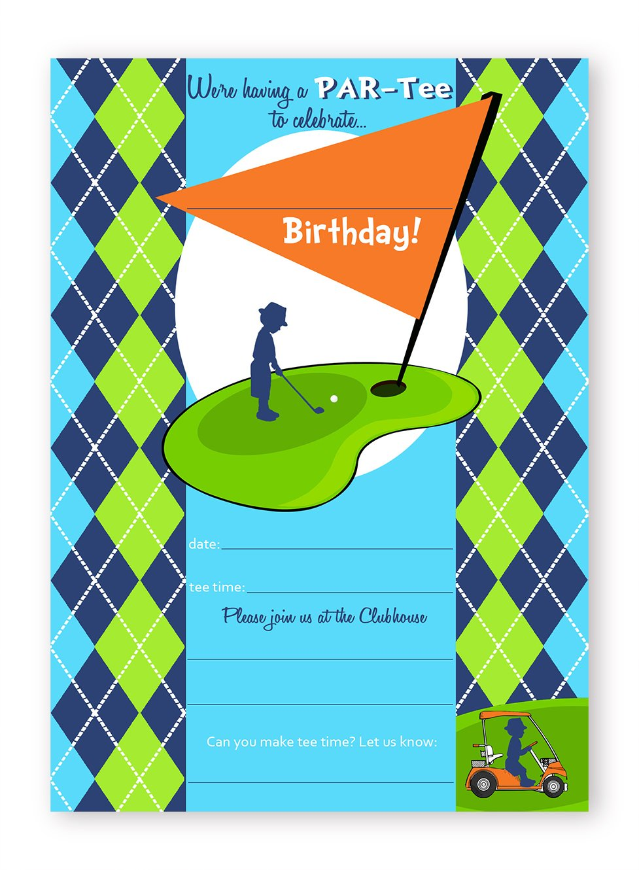 Golf Party Invitations 10 Invitations 10 Envelopes