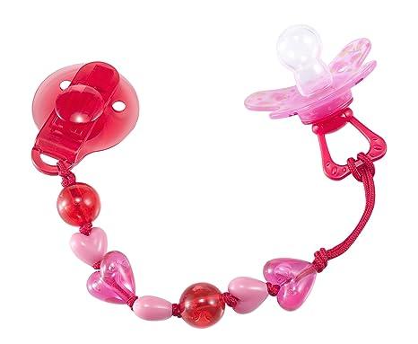 Difrax - Cadena para chupete, diseño de corazones, color ...