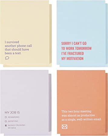 Sarcastic Memo Note Pads For Work