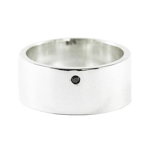 Amazon Com Carpe Diem Jewelry Mens Black Diamond Wedding Band