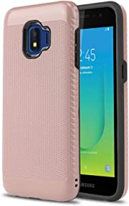 Phone Case for [Samsung Galaxy J2 Shine / J2 Dash (AT&T)], [Weave Series][Rose Gold] Shockproof Impact Resistant Defender Cover for Samsung Galaxy J2 Shine / J2 Dash (AT&T Prepaid)