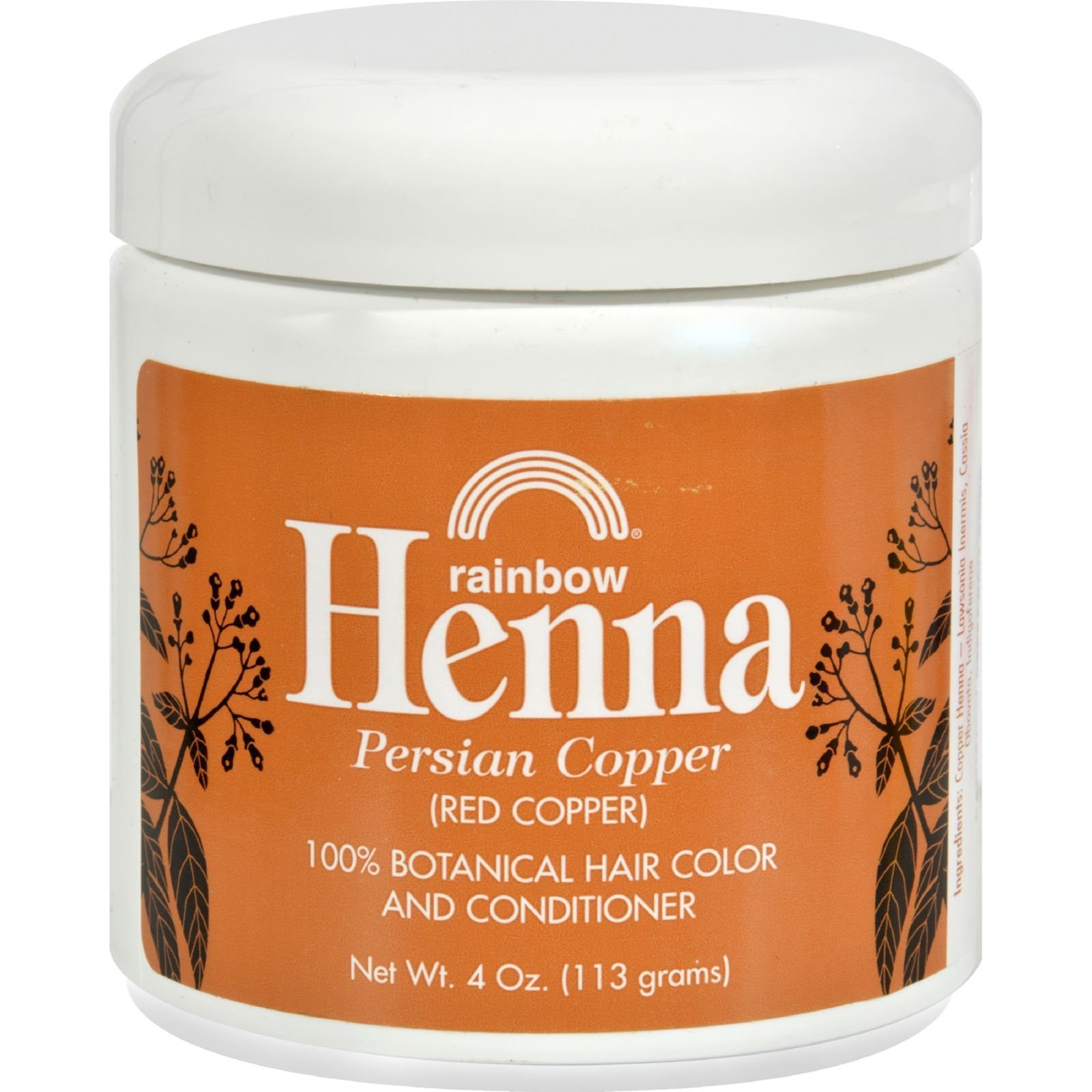 Rainbow Research Henna Hair Color and Conditioner Persian Copper, 4 oz, Red by Rainbow Research