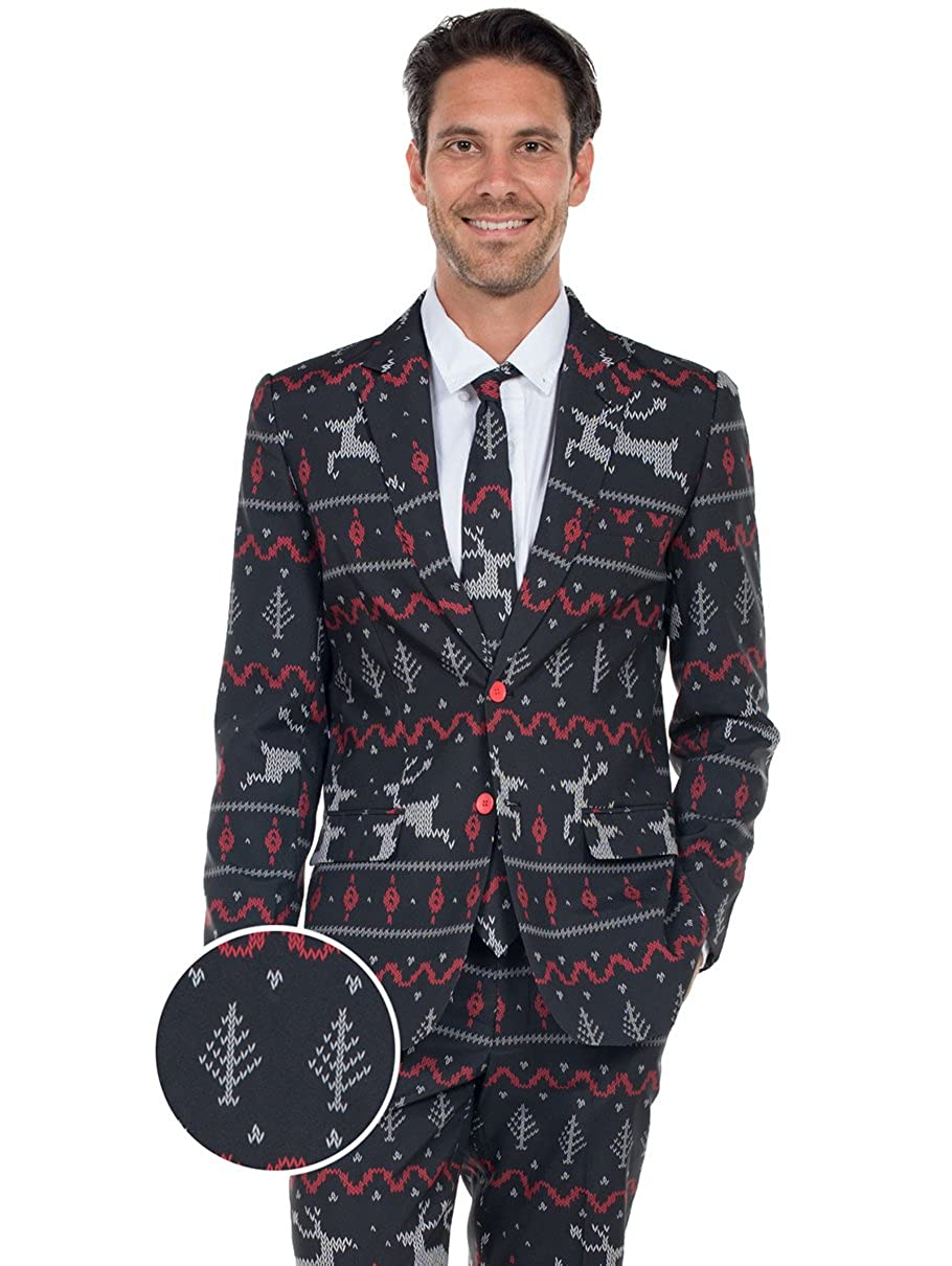 Tipsy Elves The Rage Deer Holiday Christmas Suit - Ugly Christmas Sweater Party Suit TE-CSUIT13