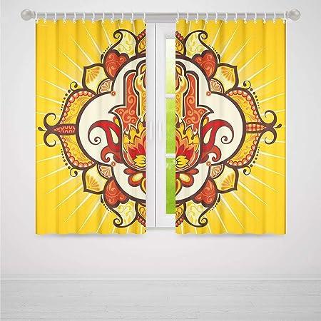Cortina Opaca para Ventanas, diseño de Hamsa, Sala de Estar ...