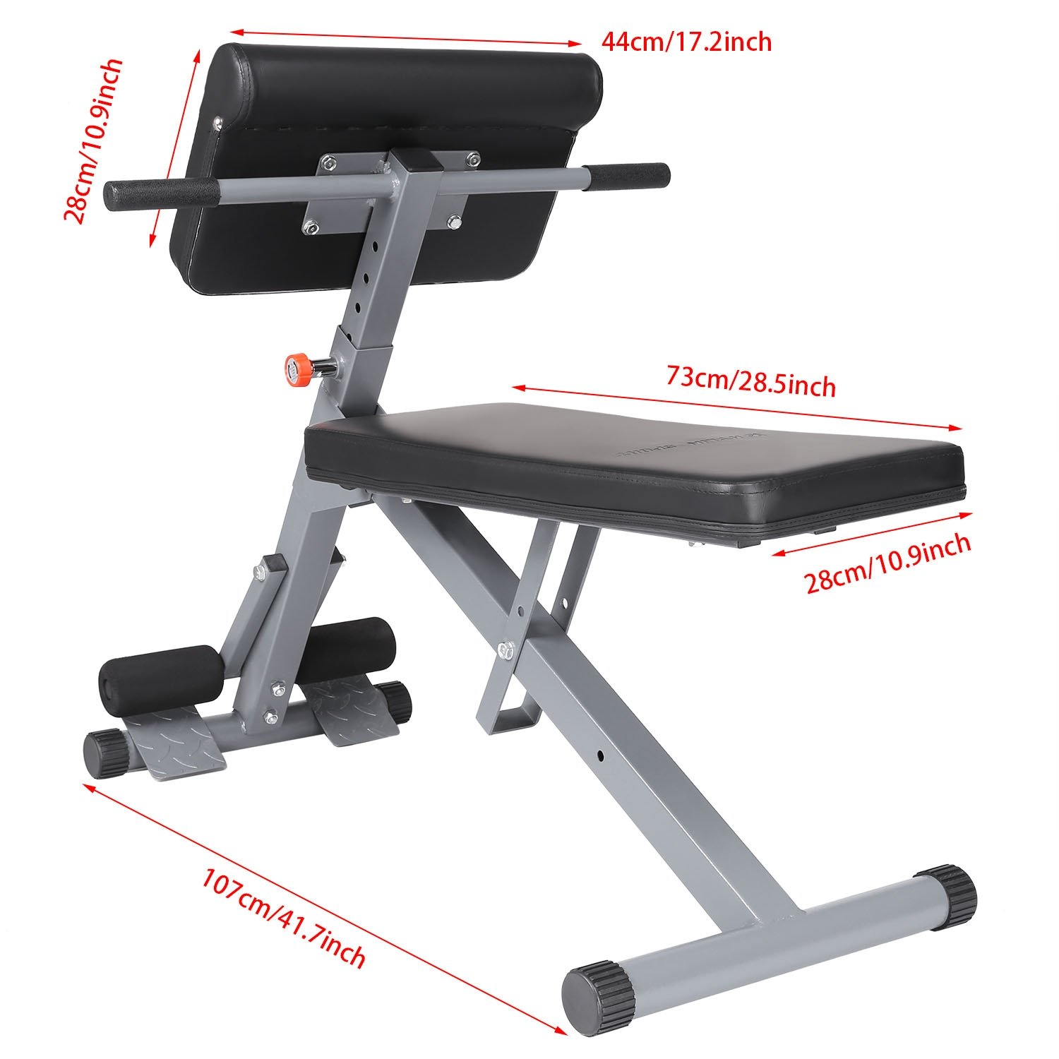 Adjustable Back Roman Chair Hyperextension Gym Exercise AB Core Strength and Hyper Chair by Ferty