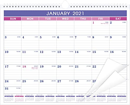 "Wall Calendar 2021 15"" x 11.5"" Large Monthly Wall Calendar Planner Hanging Hook"