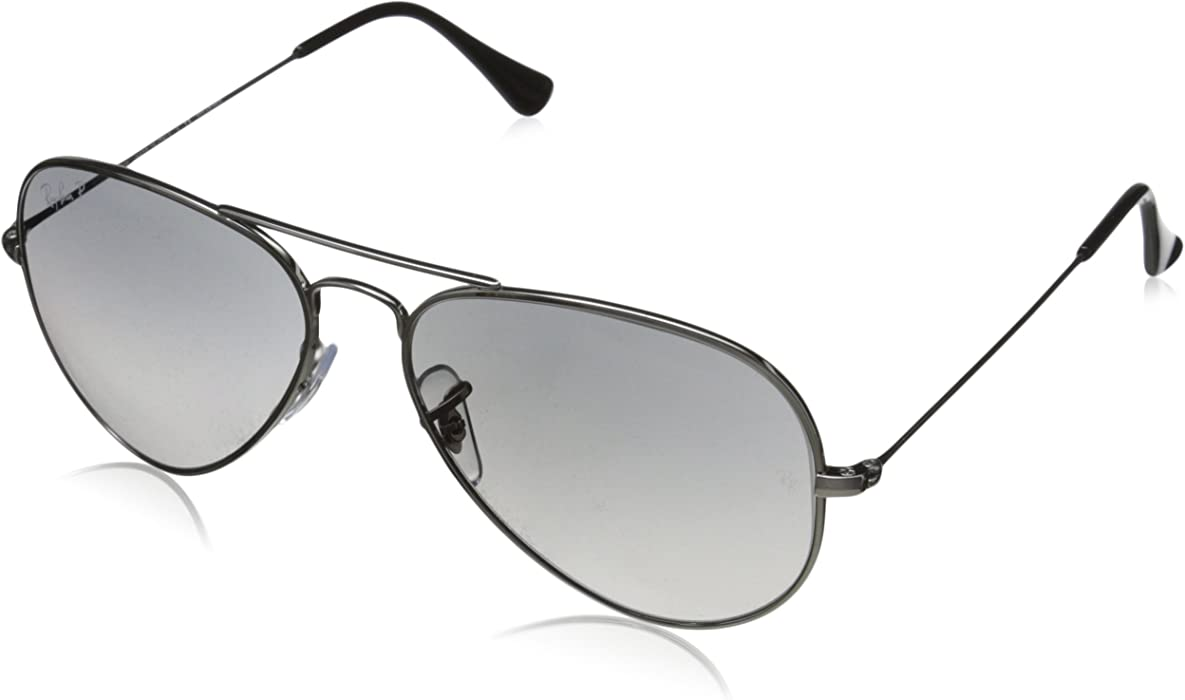 70bd715edb AVIATOR TM TITANIUM - TITANIUM Frame CRY.POLAR GREY GRADIENT Lenses 55mm  Polarized