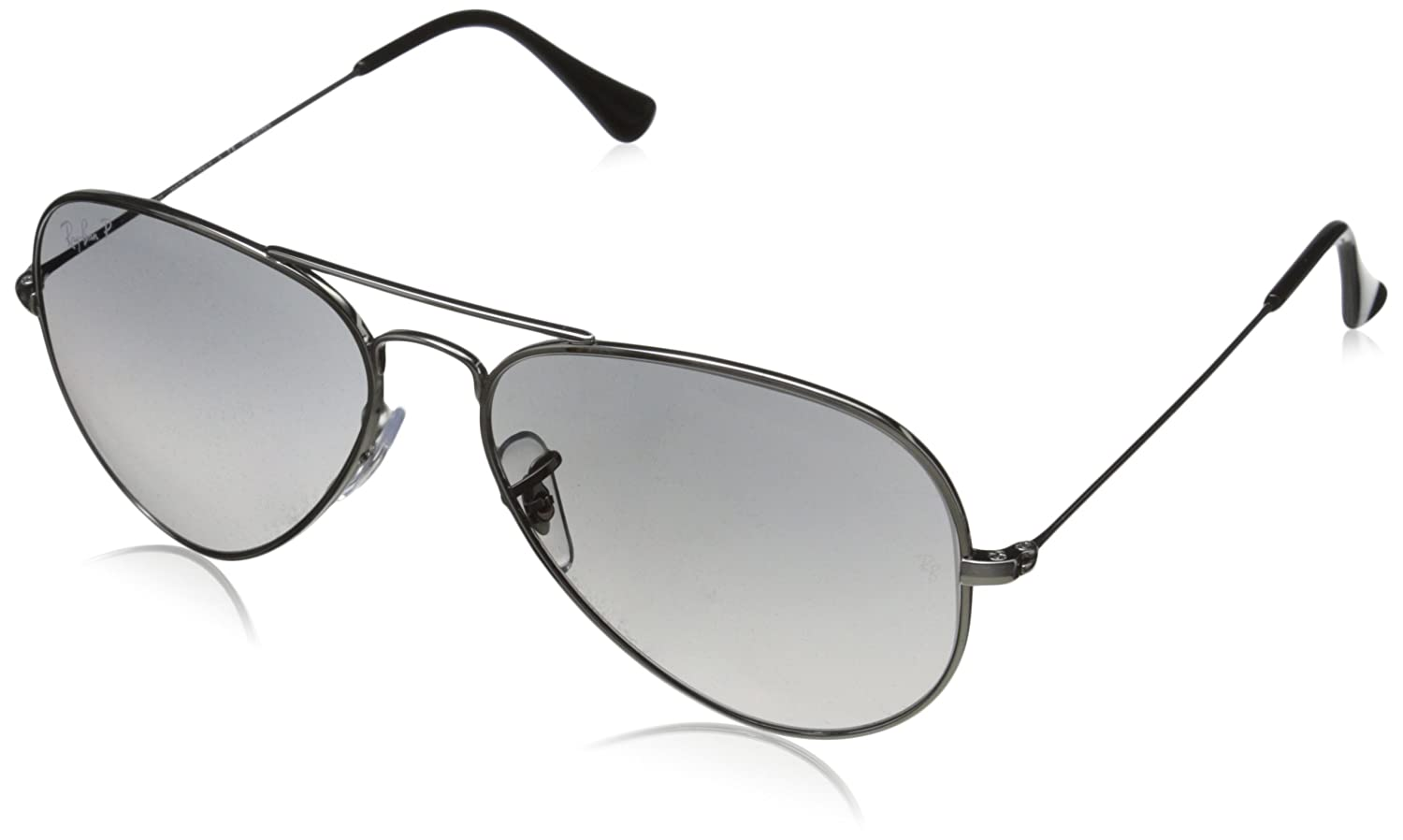 ray ban rb8041 aviator titanium sunglasses polarized