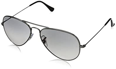 Ray-Ban AVIATOR TM TITANIUM - TITANIUM Frame CRY.POLAR GREY GRADIENT Lenses 55mm
