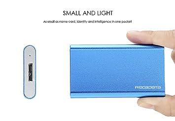 iRecadata Mini SSD Disco Duro Externo, 64G SSD mSATA, Disco Solido ...
