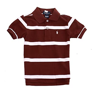 e40c09f5 Image Unavailable. Image not available for. Colour: Ralph Lauren Childrens  Striped Polo Shirt Pony Designer ...