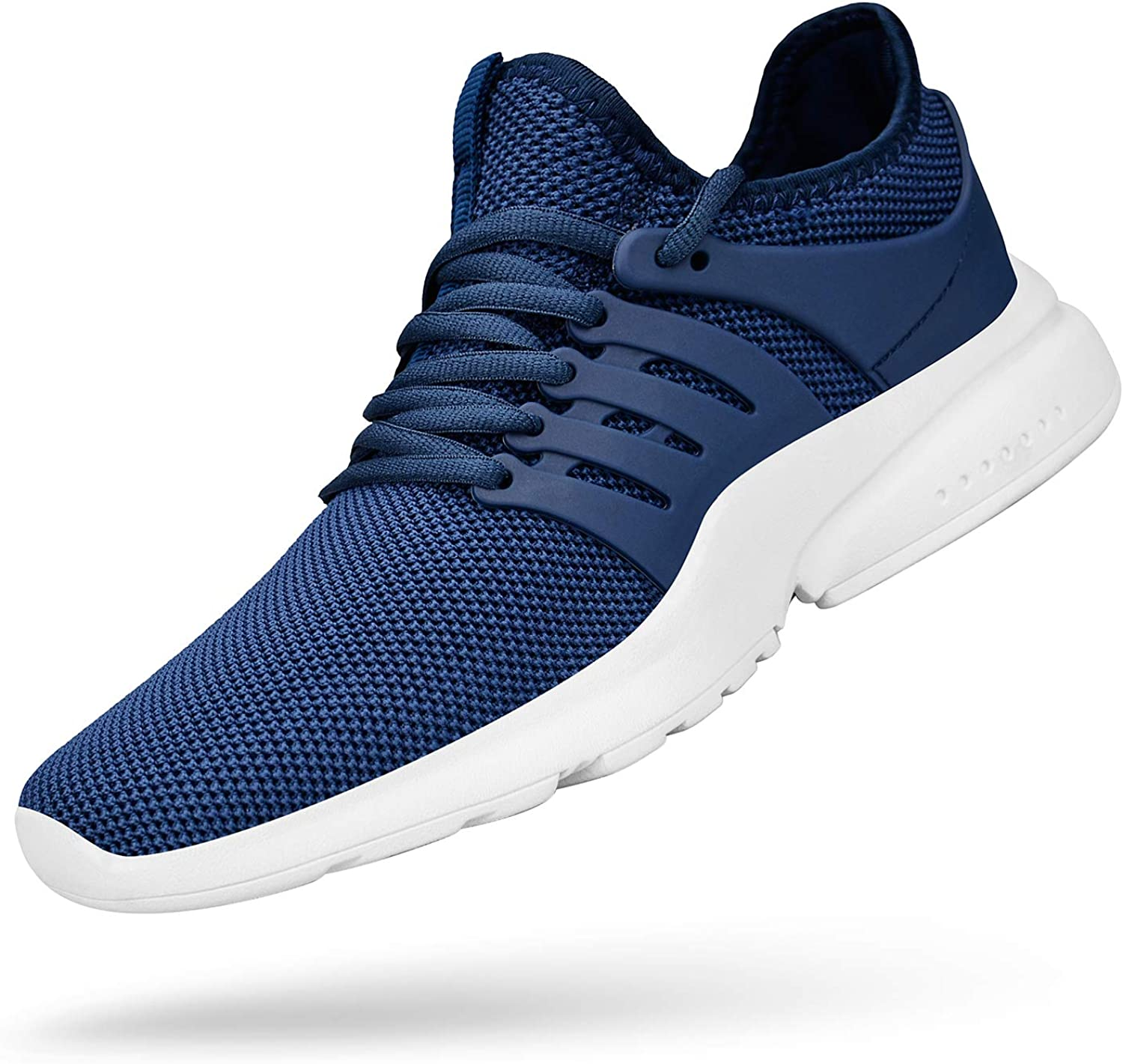 QANSI Mens Tennis Sneakers Non Slip Breathable Comfortable Athletic Sports Running Shoes Slip on Workout Training Gym Shoes Blue//White 11