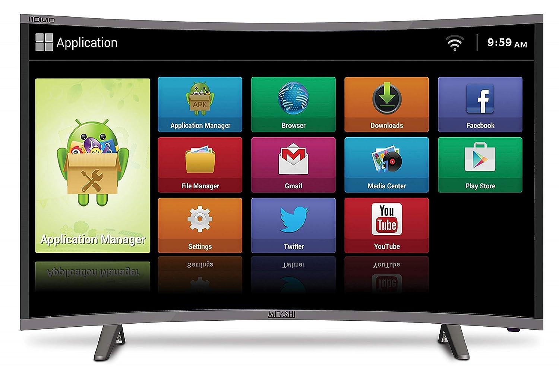 Mitashi 107 95 cm (43 inches) MiCE043V30 FS Full HD Smart Curved LED TV  (Black)