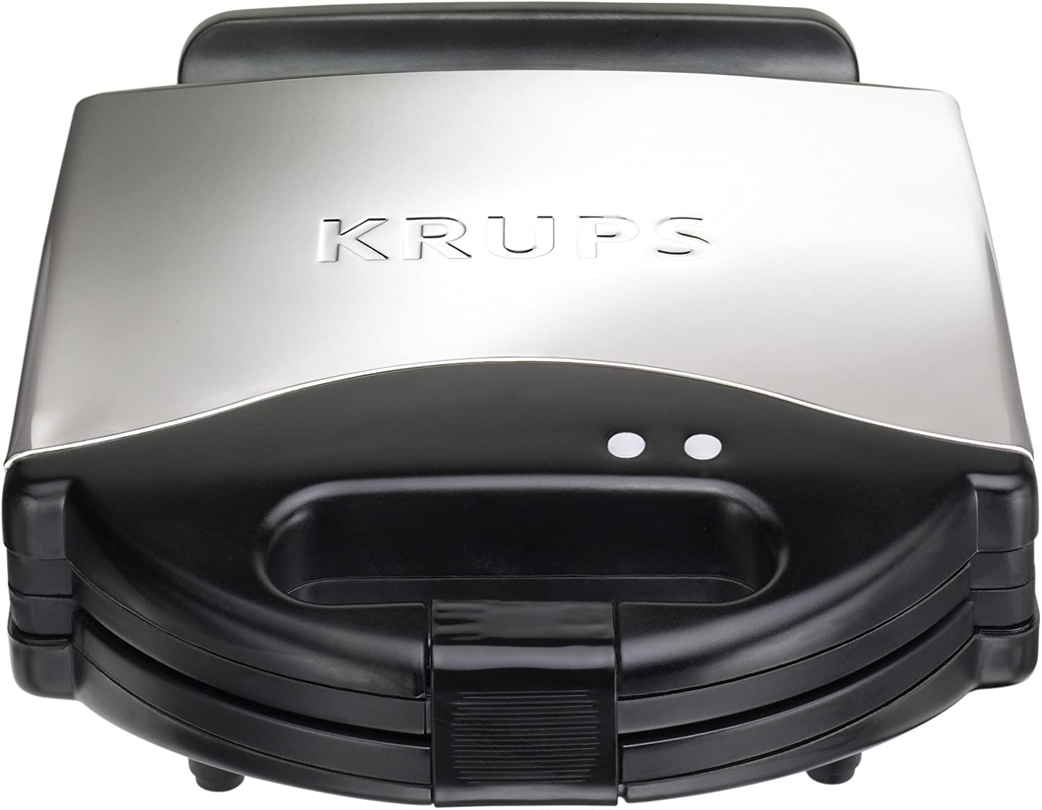 B00004SPEG KRUPS F654 Belgian Waffle Maker with Nonstick Plates LED Indicators and Stainless Steel Housing, 4-Slices, Silver 71geKquKPpL.SL1500_