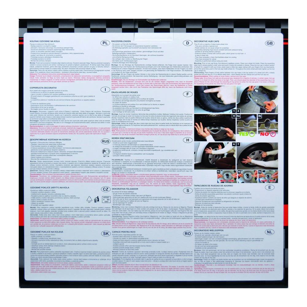 Gorecki 2211161/Set Racing/ /Tapacubos 14/Pulgadas