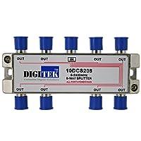 TV Antenna Splitter Digitek 8-Way Aerial F-Type 5-2400MHz Power Pass for Foxtel