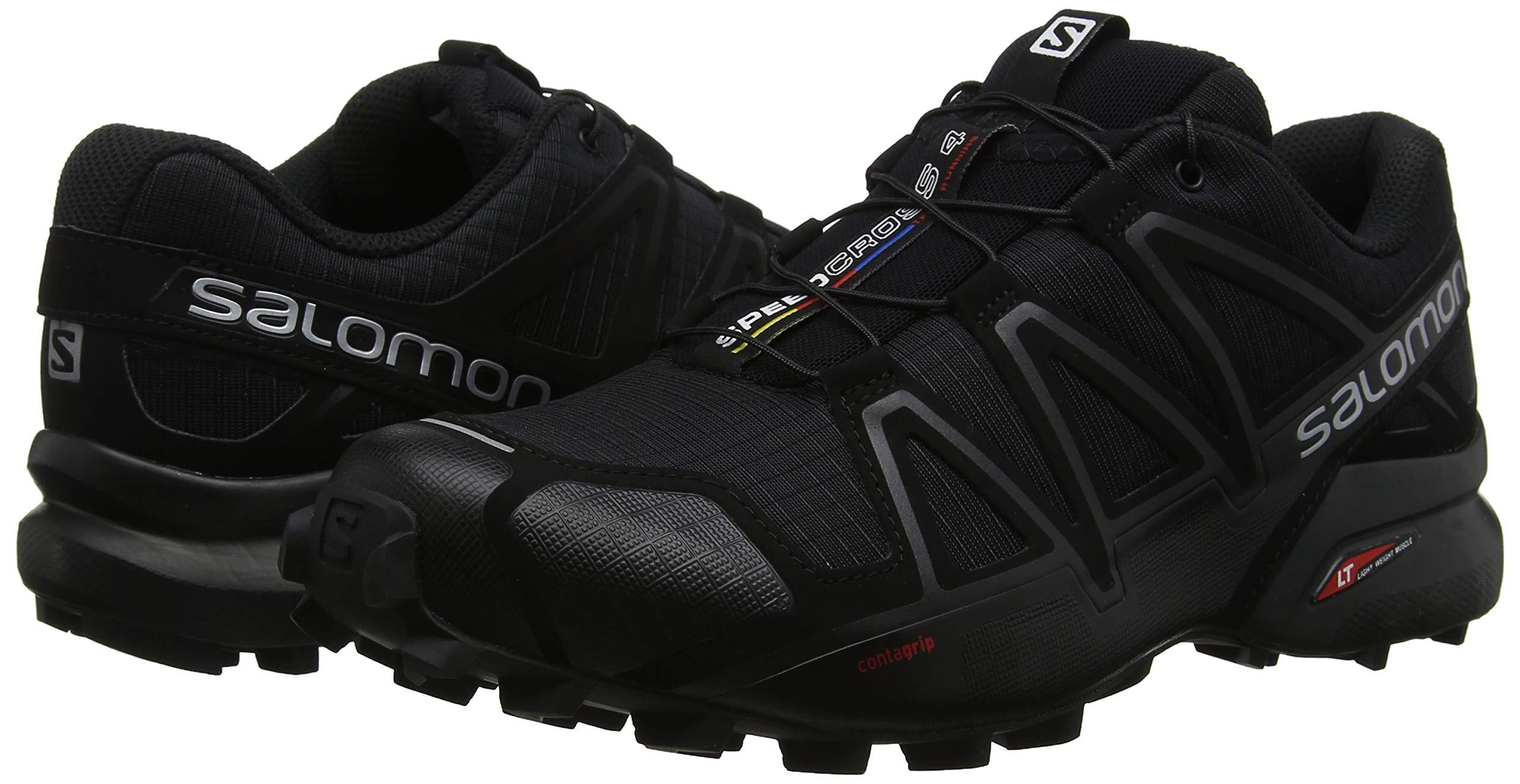 Salomon Men's Speedcross 4 Trail Runner, Black A1U8, 7 M US by Salomon (Image #5)