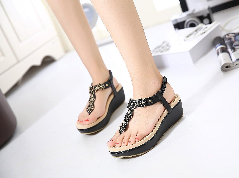 Korean Y-Shaped Fashionable Sandals Hasp ElasticAxido Heel Height 2.1in