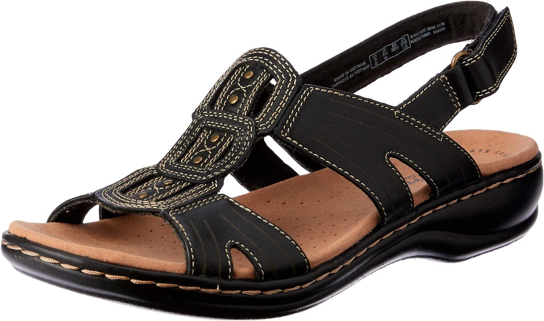 Clarks Leisa Vine Womens Black Leather