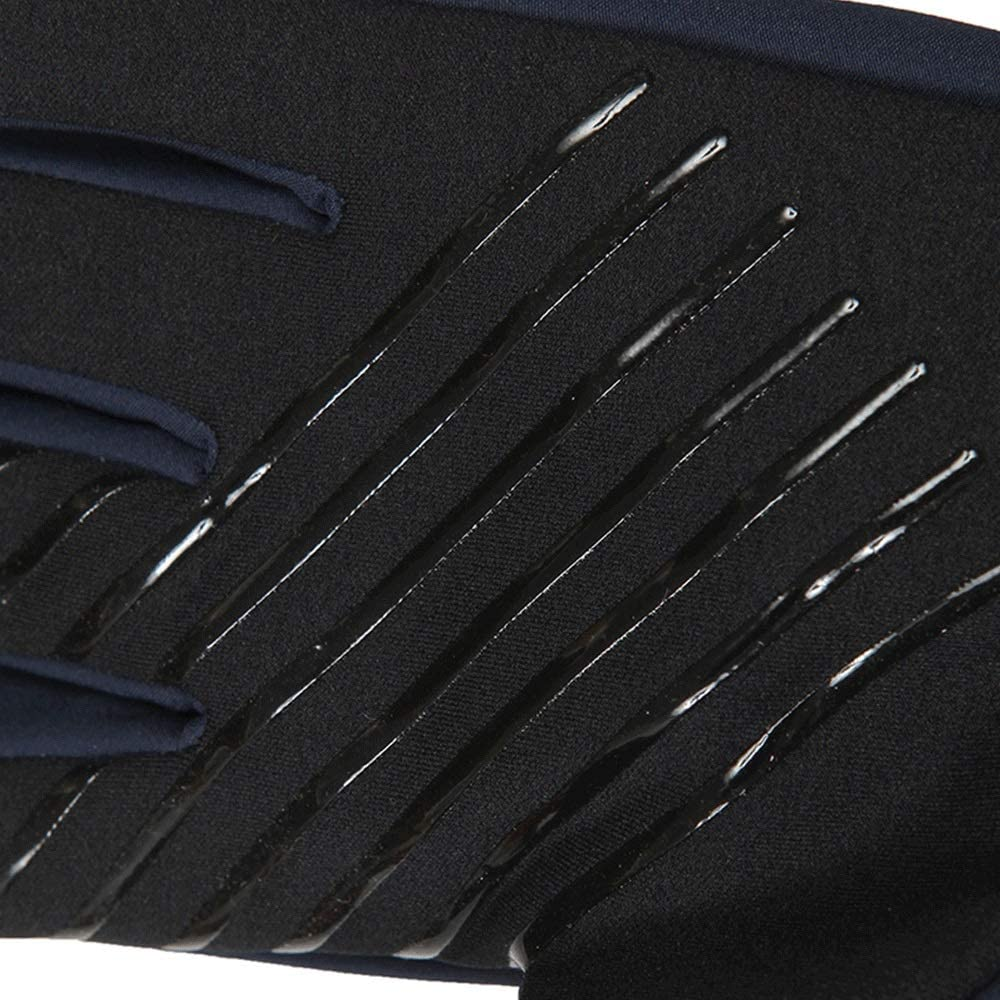 Color : Black, Size : M Lwj Autumn and Winter Outdoor Mens wear-Resistant Non-Slip Warm Fleece Gloves