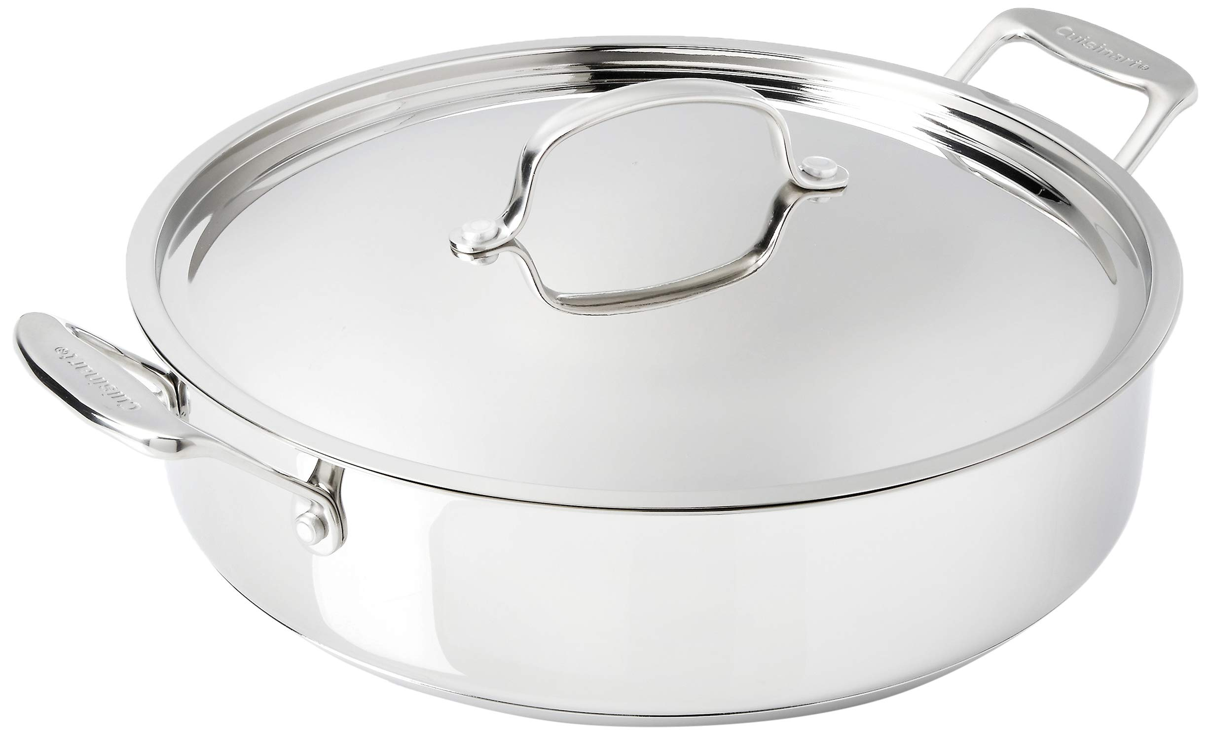 Cuisinart 733-30HW Chef's Classic 5.5 Qt. Braising Pan with Cover, Medium, Stainless Steel by Cuisinart