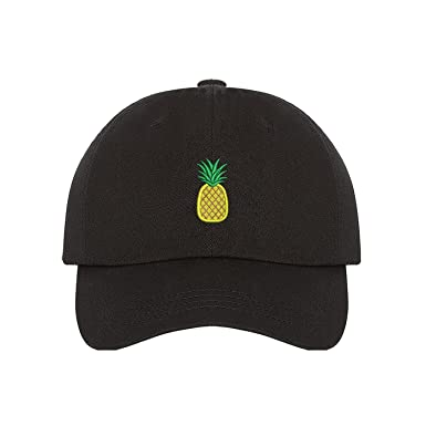 80fbde494bab8 Prfcto Lifestyle Pineapple Dad Hat - Black Baseball Hat - Unisex at Amazon  Men s Clothing store
