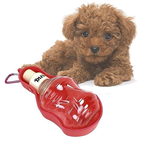 YUENA CARE Botella de Agua para Mascota Bebedero para Perros Gatos Portátil para Caminar o Viajar