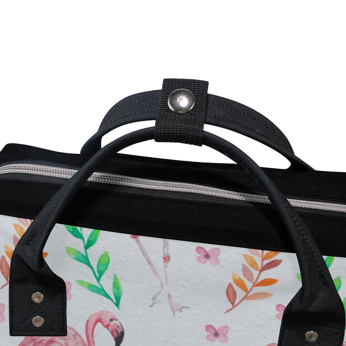 Diaper Bags Backpack Purse Mummy Backpack Fashion Mummy Maternity Nappy Bag Cool Cute Travel Backpack Laptop Backpack with Fresh Watercolor Flamingo Daypack for Women Girls Kids