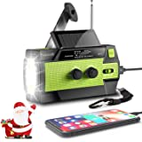 [2020 New Version] Emergency-Hand-Crank-Radio,4000mAh Portable Weather Solar Radios with Motion Sensor Reading Lamp,3…