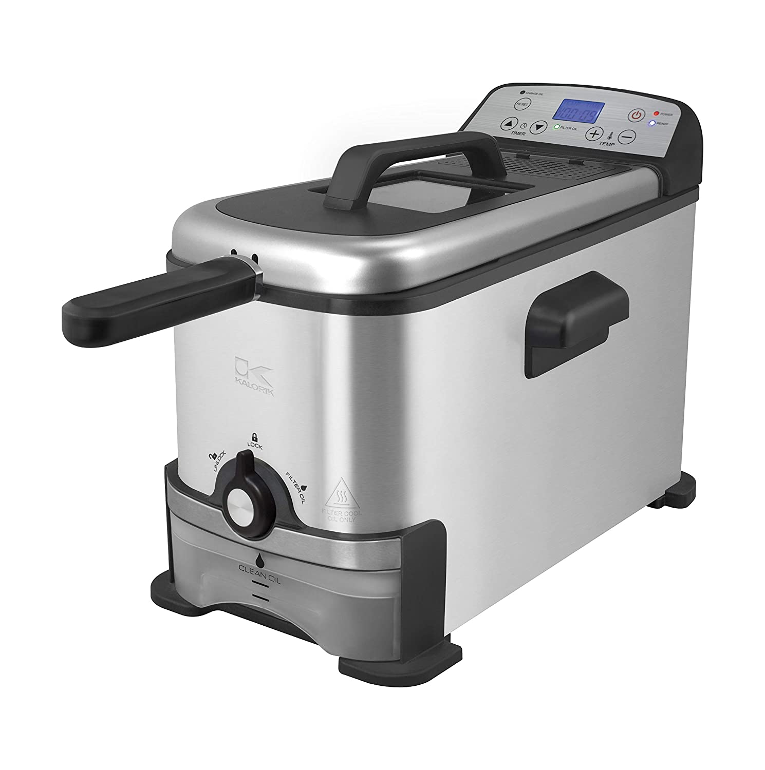 Kalorik Digital Deep Fryer with Oil Filtration