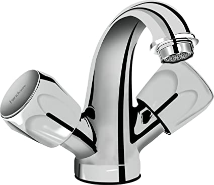 Hindware F200014CP Centre Hole Basin Mixer (Classik) with Chrome Finish