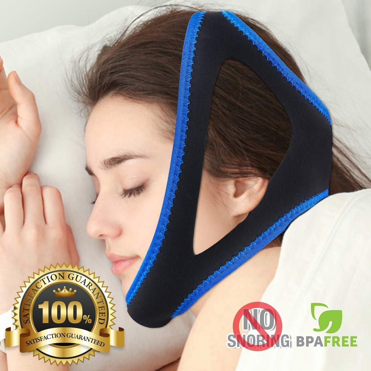 Anti Snoring Adjustable Chin Strap/Sleep Aid Device/Snoring Solution/Stop Snoring For Men And Women Have A Best Night