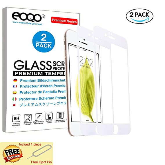 "Protector de Pantalla para iPhone 6 iPhone 6S 4.7"" Cristal Vidrio Templado [9H Dureza"