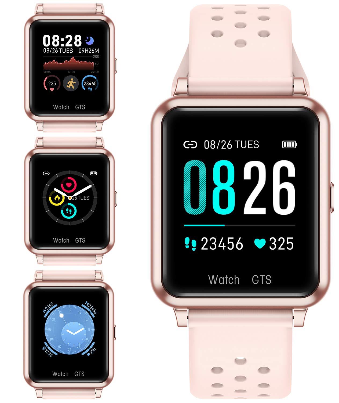 monitor del sonno cardiofrequenzimetro notifica contapassi per Android e iOS tracker di fitness e attivit/à Smart Watch IP67 impermeabile con schermo Full Touch Bluetooth smartwatch Nero