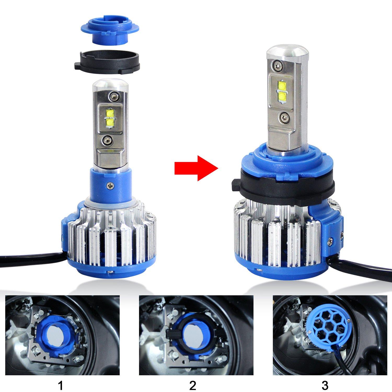 Win Power H7 LED Base dampoule Des clips Adaptateur Titulaire Retenue Soutien Conversion Accessoires 2 pi/èces