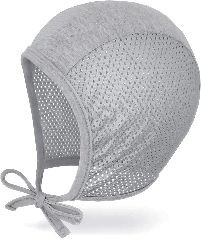 3m 6m 12m JELLYTREE Baby Hat Bonnet Breathable Mesh Pilot Cap Hearing Aid Hats Infant Toddler Boys Girls Beanies