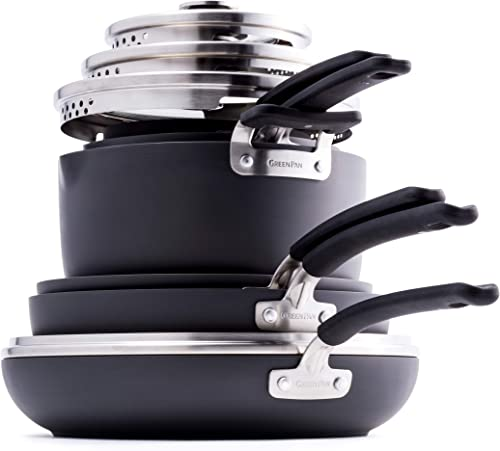 GreenPan Levels Stackable Hard Anodized Ceramic Nonstick