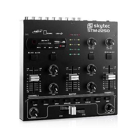 SKYTEC STM-2250 Mezclador de 4 canales con USB/MP3 Negro172979 ...
