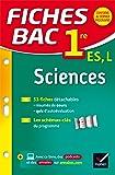 Fiches bac Sciences 1re ES, L: fiches de révision - Première ES, L