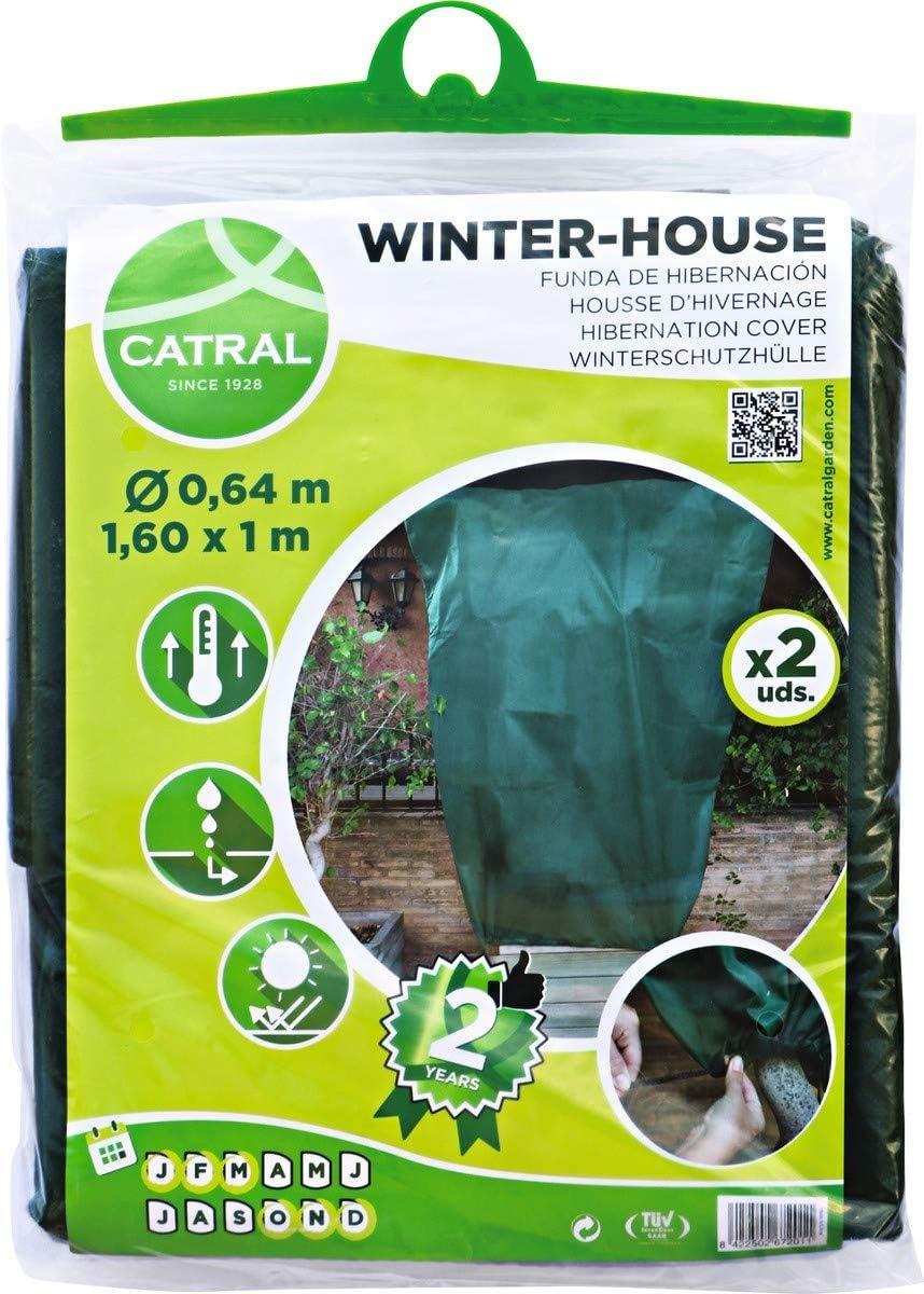 Catral 02010002 Pack 2 Fundas de Hibernación, Verde, 160 x 3 x 100 cm