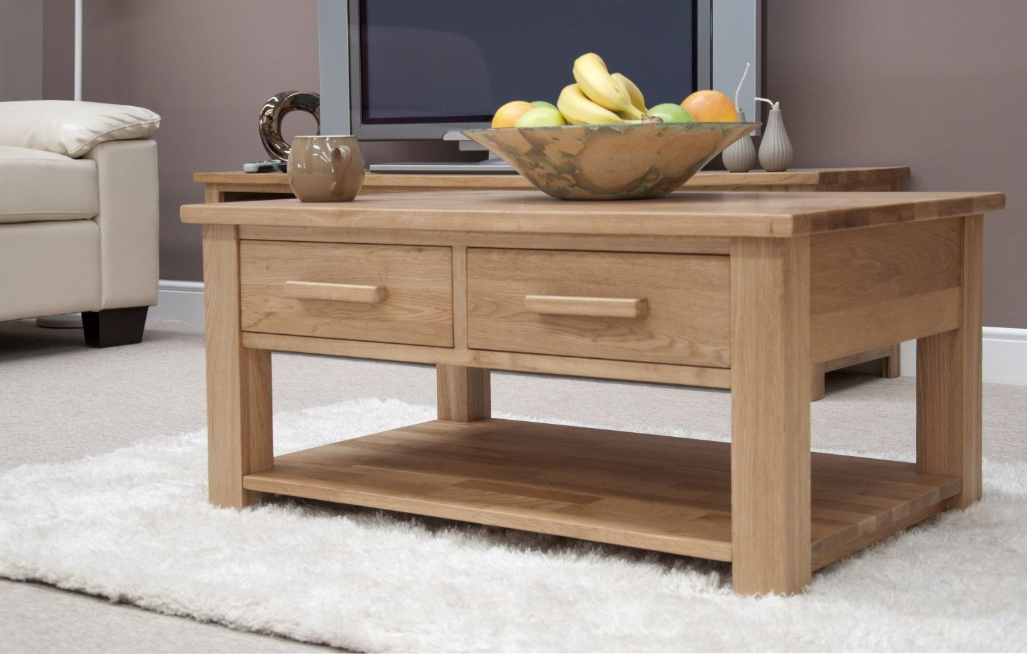 Eton solid oak furniture storage coffee table with drawers amazon eton solid oak furniture storage coffee table with drawers amazon kitchen home geotapseo Choice Image