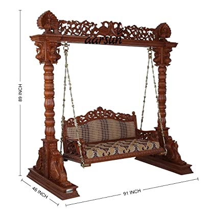 Aarsun Woods Swings/Jhoola For Home & Garden Floor-Standing, Teak Wood