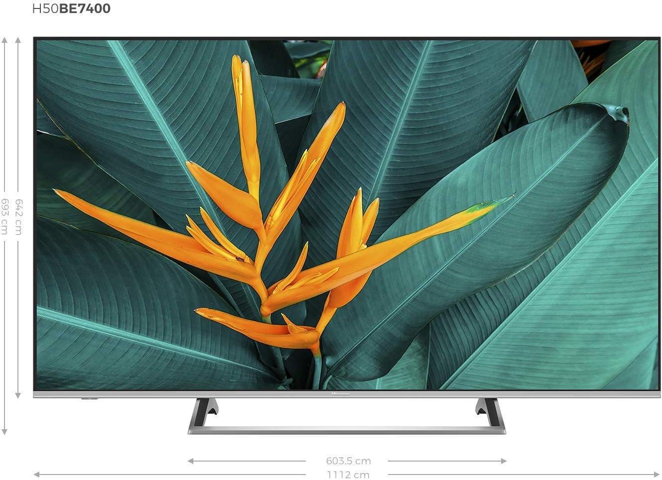 2 USB salida /óptica Wifi Audio DTS Hisense H55BE7400 Smart TV ULED 55 4K Ultra HD Bluetooth Smart TV VIDAA U 3.0 con IA 3 HDMI Procesador Quad Core Dolby Vision HDR Wide Color Gamut