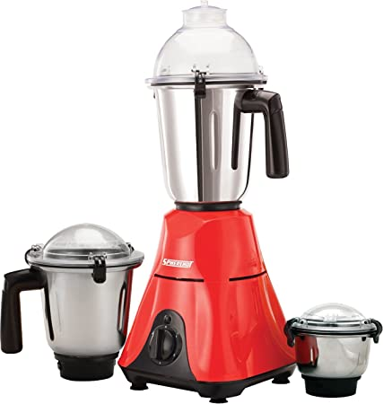 Spherehot 600-Watt Mixer Grinder MXT-11 with 3 Jars(Red) Mixer Grinders at amazon