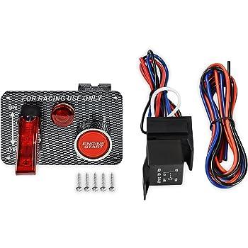 amazon com iztoss dc 12v ignition switch panel 5 in 1 car engine rh amazon com