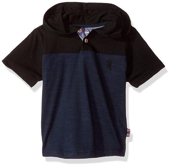 7787ec60 English Laundry Little Boys' Short Sleeve Color Block Henley (More Styles),  Blue