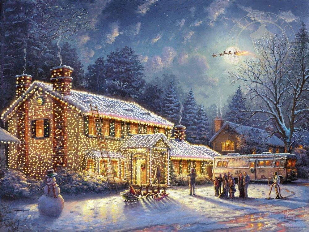 Amazon.com: Ceaco Thomas Kinkade National Lampoon's Christmas ...